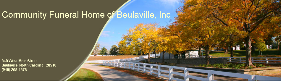 Community Funeral Home of Beulaville, Inc